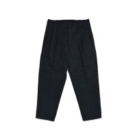Loose 2Tuck Tapered Trouser Black