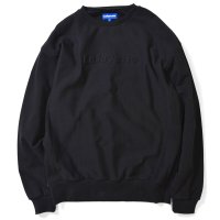 EMBOSSED LOGO US COTTON CREWNECK SWEATSHIRT BLACK