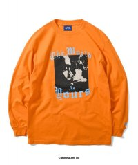 "x NAS ""WORLD IS YOURS L/S TEE"" ORANGE"