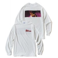 "L/S Tee ""Fiction"" WHITE/PINK"