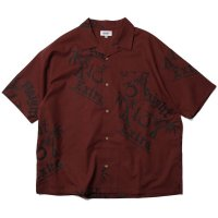 HAIGHT EXTRA OPEN COLLAR SHIRT BURGUNDY